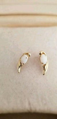 Opal 14kt gold earrings.  35 km