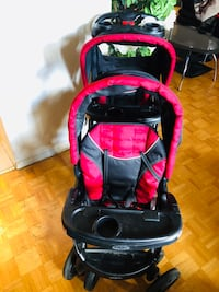 Baby's black and red stroller Toronto, M9N 2S5