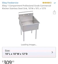 Commercial kitchen stainless steel sink  Olney, 20832
