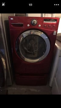 Red Lg DirectDrive Washer