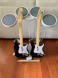 Wii Rockband drums plus two Fender guitars and mic Vancouver, V5S 2G9
