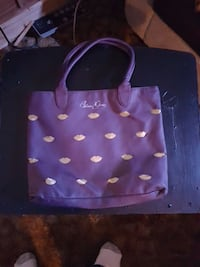 purple and white leather tote bag Kamloops, V2B 3C9