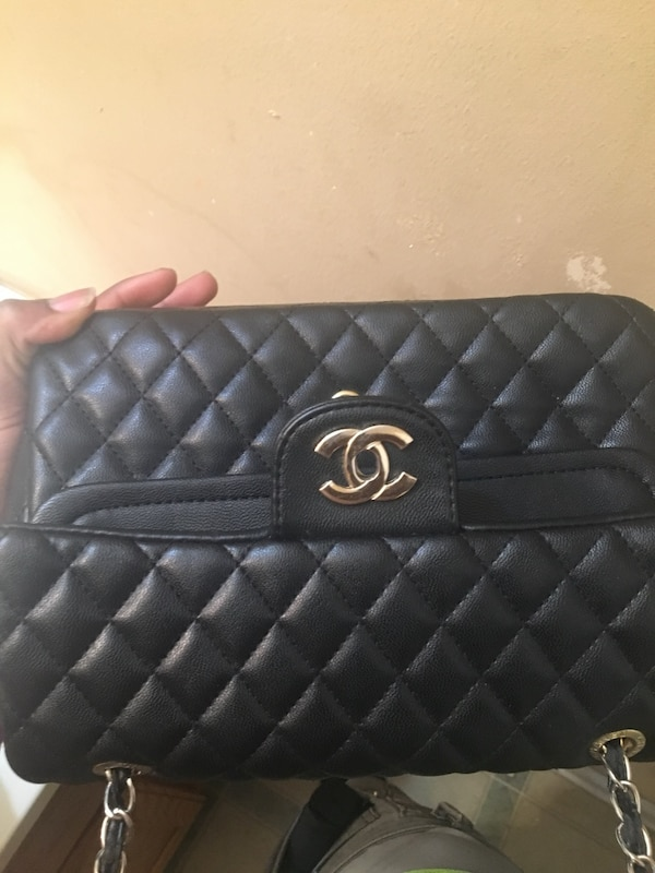 6af1a7ba9116 Used quilted black Chanel leather handbag for sale in Atlanta - letgo
