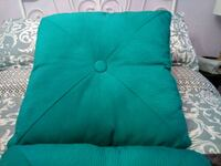 Teal green large throw pillowsx2 Brampton, L7A 1P6