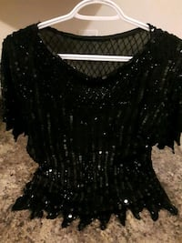 Hand sewed beaded & sequences top