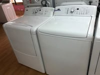 Kenmore white washer and dryer set 47 km
