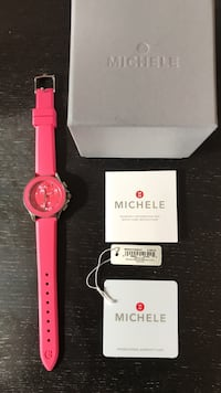 Michele watch , Pink watch with pink strap Highland, 20777