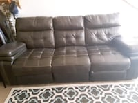 leather couch/computer/phone charger/recliner chair/buttens null