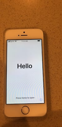 Unlocked iPhone 5s, has a barley noticeable crack at bottom right Bel Air, 21014