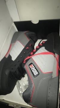 Gray-black-and-red dvs14 shoes with box
