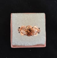 Women's Beautiful Ring in Sz. 9, rose gold plated . Sparks, 89441