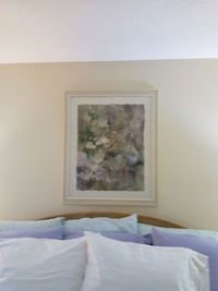 white and green flowers painting 425 mi