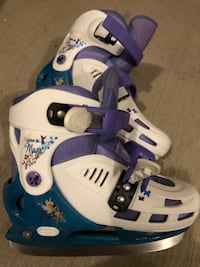 Pair of white-and-purple  inline skates size 2.5 London, N6B 0A5