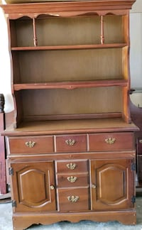 brown wooden desk with hutch Bonaire, 31005