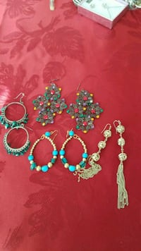 four pairs of assorted-color hook earrings Vancouver, 98683