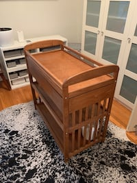 Wood Baby changing table with drawer