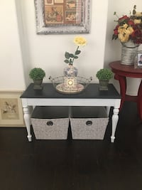 White and black wooden storage bench Rancho Cucamonga, 91739