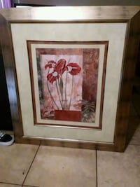 brown wooden framed painting of flowers Bryan, 77802