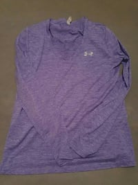 heather-purple Under Armour v-neck long-sleeved t-shirt
