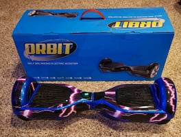Orbit Hoverboard - Blue with Graphics