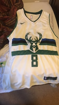 White and green nike jersey shirt