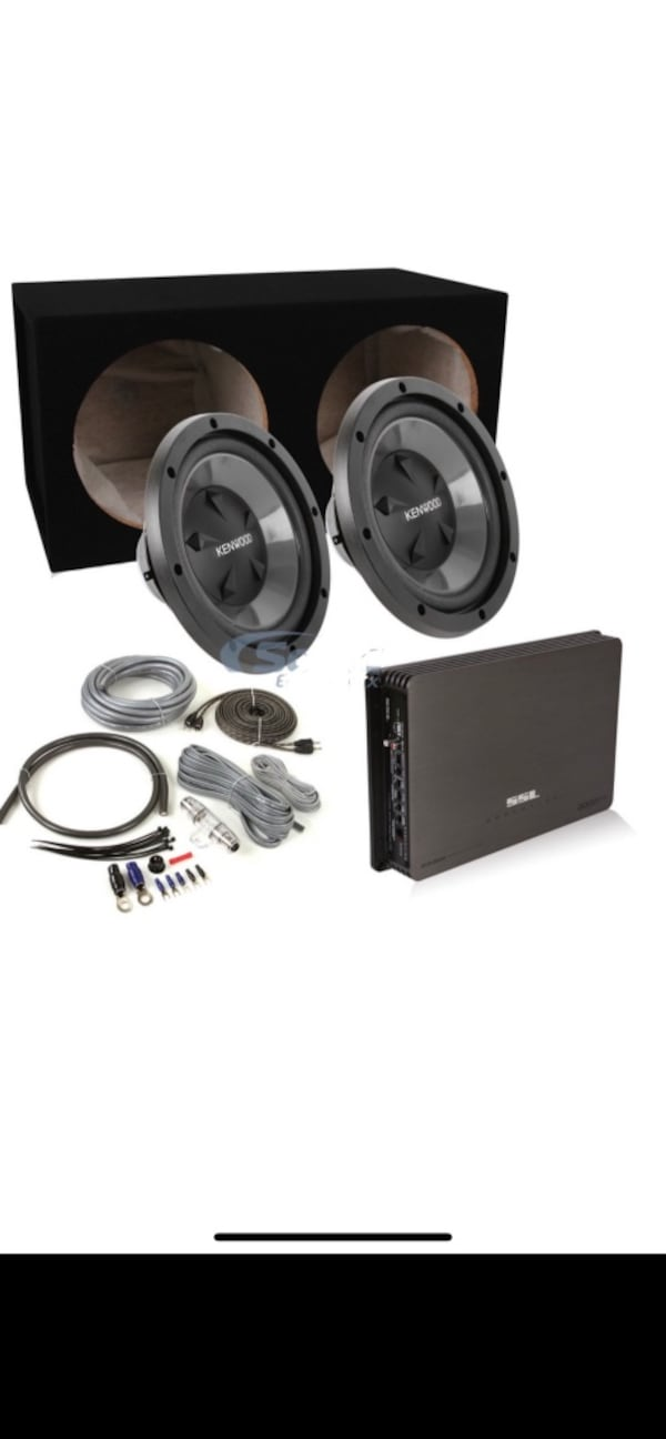 """With installation. 2 kenwood 12"""" with box and 1500w amplifier 41d2a670-8eec-4c85-a027-761555feb53e"""