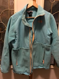 Girls turquoise north face size18