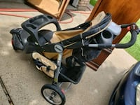 baby's black and gray stroller Katy, 77449
