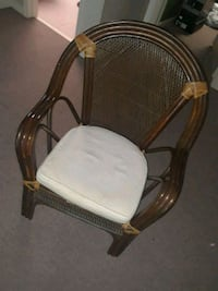 white and brown wooden armchair Dunwoody, 30346