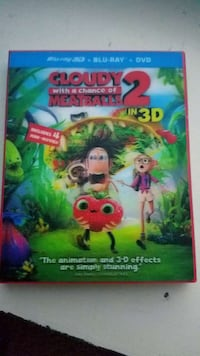 Used Cloudy With A Chance Of Meatballs 2 3d Blu Ray Etc