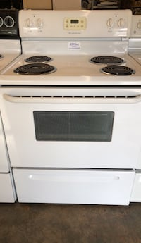 white and black 4-coil electric range oven High Point, 27260