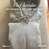 Gray Huf hoodie, size M. Used only few times! OSLO