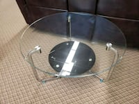 Brand new round glass top coffee table on sale  Toronto, M9W 1P6
