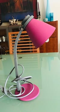Fin rosa bordlampe Asker, 1387