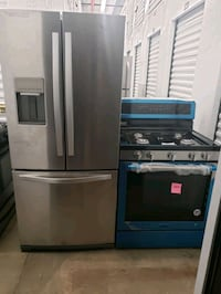 gray french door refrigerator with dispenser The Bronx, 10456