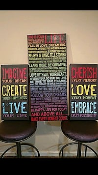 Colorful Canvases with Positive Quotes