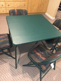 Excellent condition…Card table/4 chairs or additional food table Tyngsborough