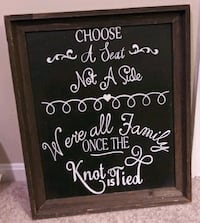 Wedding chalkboard sign 24 x 18 Gaithersburg, 20886