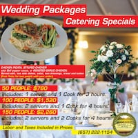 Wedding catering Specials Packages Laguna Hills
