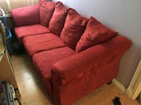 red fabric 3-seat sofa Vancouver, V6H 4C8