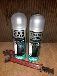 Motorcycle chain clean and lube with brush. Lake Oswego, 97034