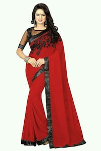 women's red and black saree dress Toronto, M1J