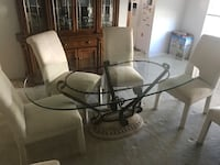 Glass table with 6 chairs  Orlando, 32824