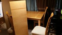 Excellent condition six chairs, & leaf