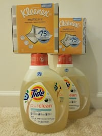2 Tide Purclean 75 oz and 2 Kleenex-$20 firm price Rockville
