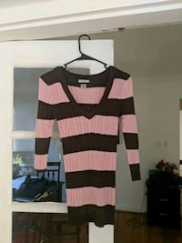 black and brown striped long-sleeved shirt Arlington, 22207