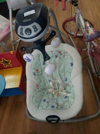 baby's white and gray cradle and swing Tampa, 33615
