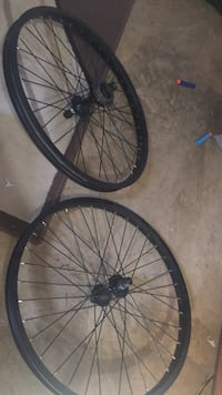 Two black bicycle wheels Spruce Grove, T7X 1G5