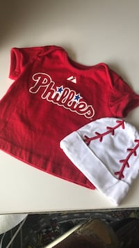 Utley phillies tee shirt and baseball cap sz 6-9m Bethlehem, 18017