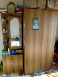 brown wooden cabinet with mirror Pune, 411046